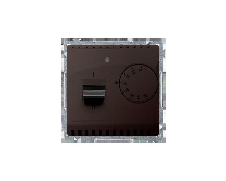 Regulator temperatury z czujnikiem wewnętrznym czekoladowy mat, metalizowany BMRT10W.02/47