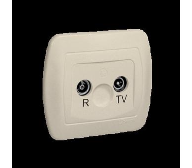 Gniazdo antenowe R-TV końcowe separowane tłum.:1dB beżowy