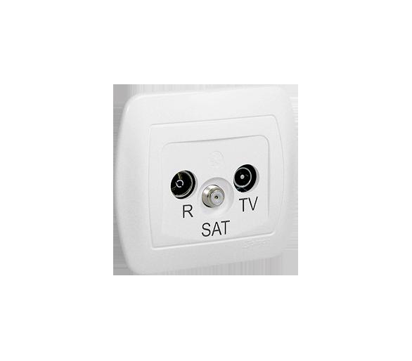 Gniazdo antenowe R-TV-SAT końcowe/zakończeniowe tłum.:1dB biały AAS/11