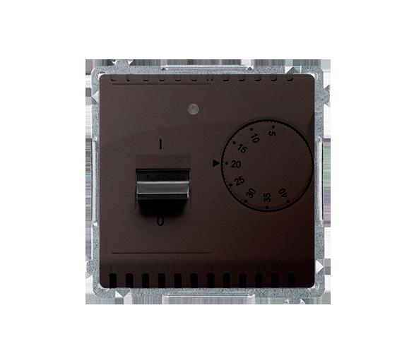 Regulator temperatury z czujnikiem zewnętrznym czekoladowy mat, metalizowany BMRT10Z.02/47