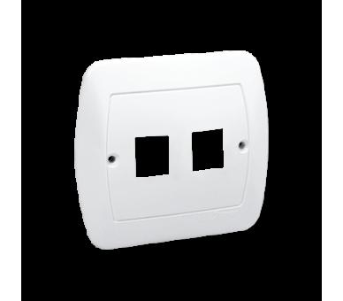 Pokrywa gniazd teleinformatycznych na Keystone płaska podwójna biały PL-999A/11