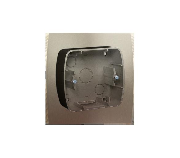 Puszka natynkowa 1-krotna satynowy, metalizowany