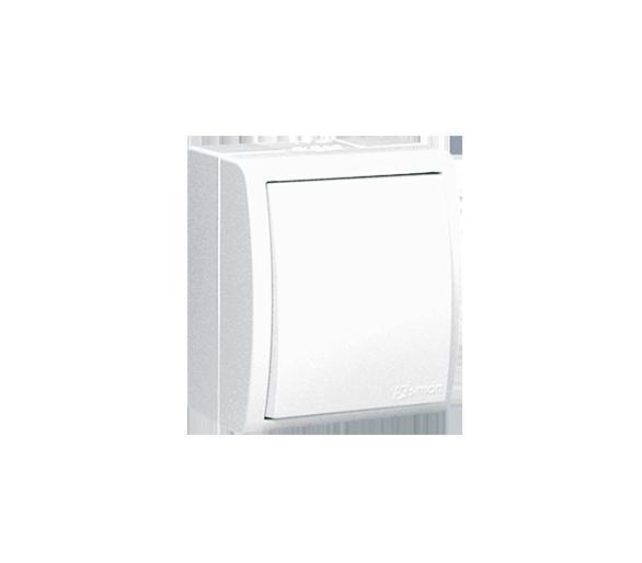 Łącznik jednobiegunowy z podświetleniem bryzgoszczelny biały 10AX
