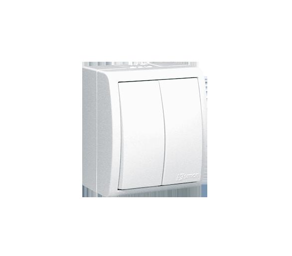 Łącznik świecznikowy z podświetleniem bryzgoszczelny biały 10AX