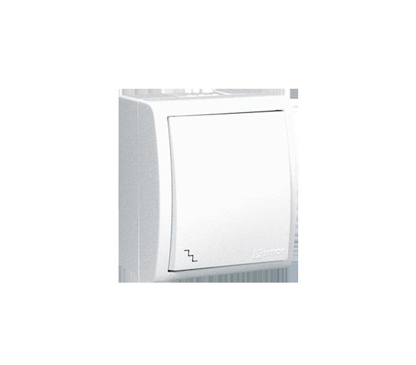 Łącznik schodowy bryzgoszczelny biały 10AX