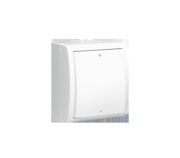 Łącznik dwubiegunowy z podświetleniem bryzgoszczelny biały 10AX