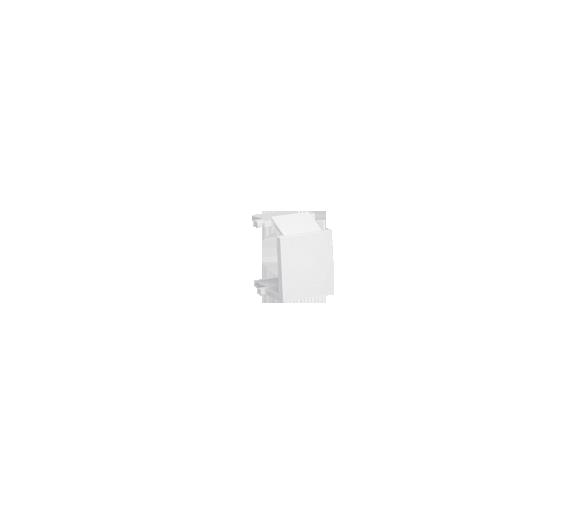 Zaślepka otworu wtyku RJ45/RJ12  pokrywy gniazda teleinformatycznego biały BWB-030