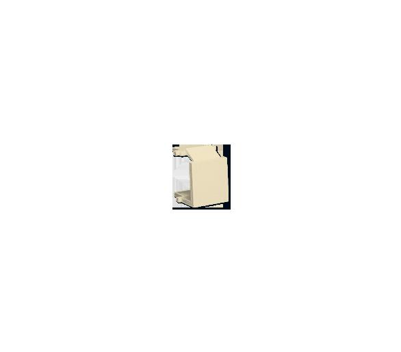 Zaślepka otworu wtyku RJ45/RJ12  pokrywy gniazda teleinformatycznego beżowy BWB-031