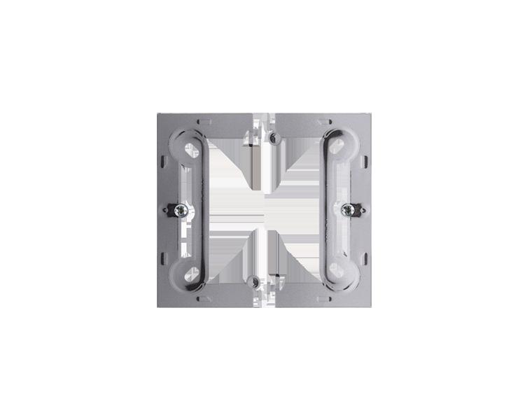 Puszka natynkowa pojedyncza składana inox, metalizowany PSC/21