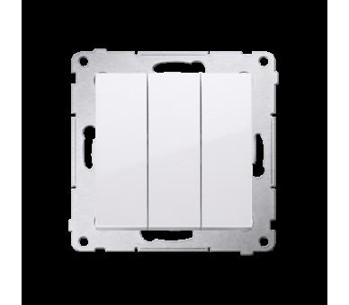 Łącznik potrójny (moduł) 10AX 250V, szybkozłącza, biały DW31.01/11