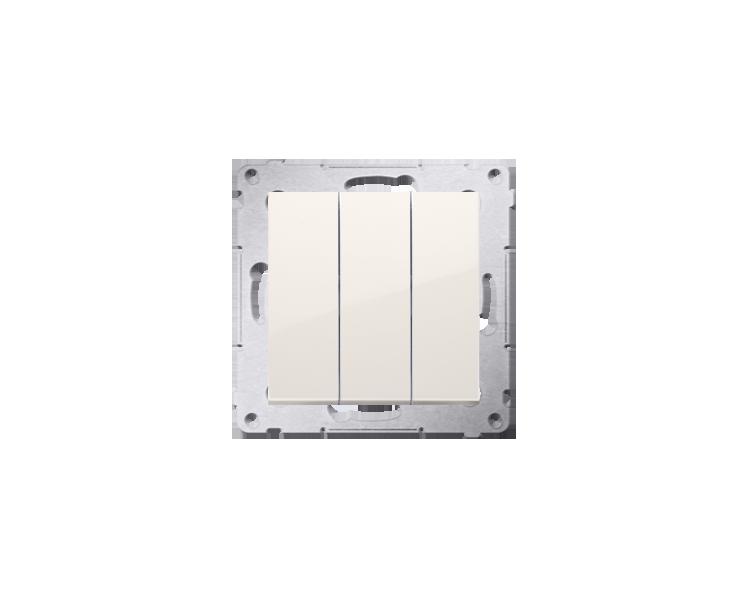Łącznik potrójny (moduł) 10AX 250V, szybkozłącza, kremowy DW31.01/41