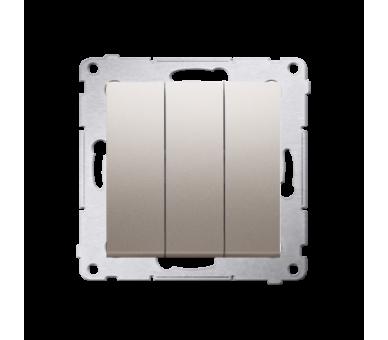 Łącznik potrójny (moduł) 10AX 250V, szybkozłącza, złoty mat, metalizowany DW31.01/44