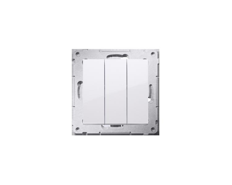 Łacznik potrójny z podświetleniem (moduł) 10AX 250V, szybkozłącza, biały DW31L.01/11