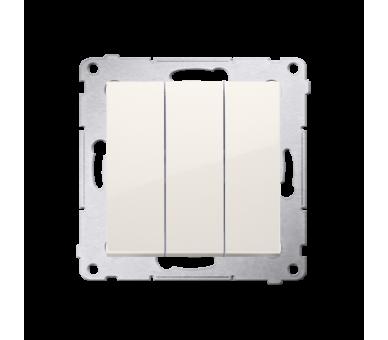 Łacznik potrójny z podświetleniem (moduł) 10AX 250V, szybkozłącza, kremowy DW31L.01/41