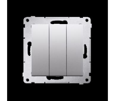 Łacznik potrójny z podświetleniem (moduł) 10AX 250V, szybkozłącza, srebrny mat, metalizowany DW31L.01/43