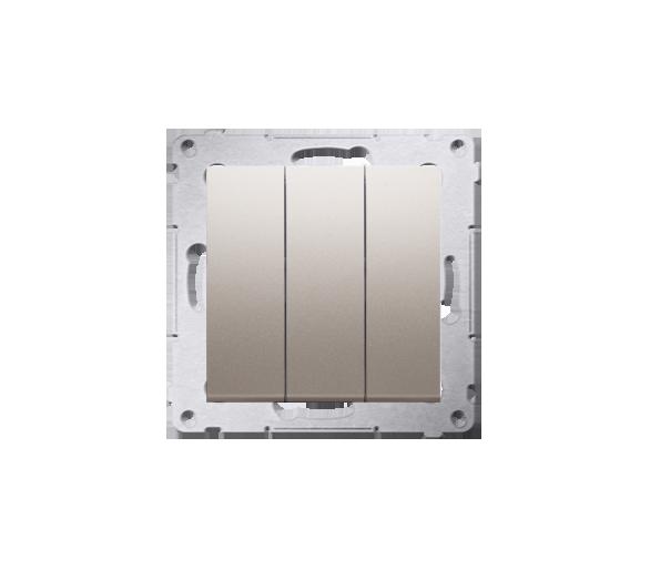 Łacznik potrójny z podświetleniem (moduł) 10AX 250V, szybkozłącza, złoty mat, metalizowany DW31L.01/44