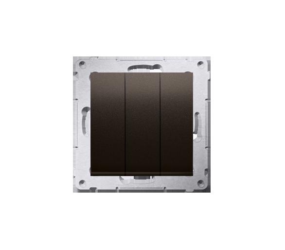 Łacznik potrójny z podświetleniem (moduł) 10AX 250V, szybkozłącza, brąz mat, metalizowany DW31L.01/46