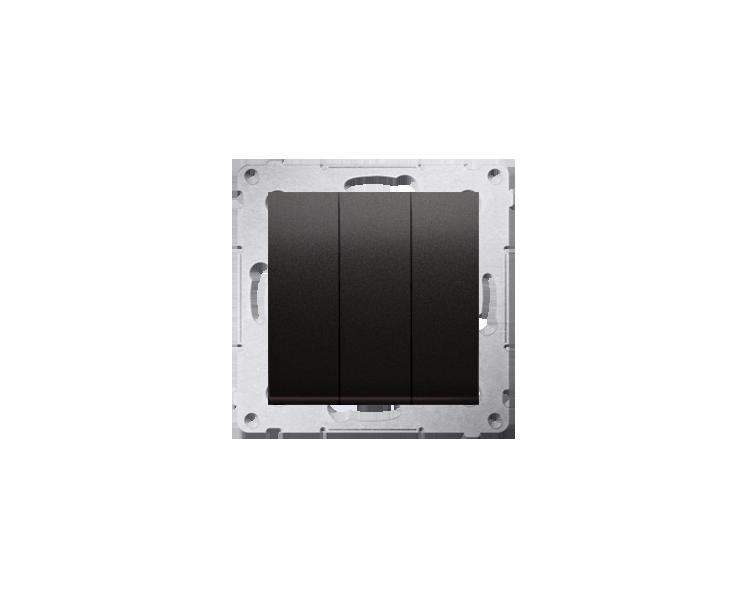 Łacznik potrójny z podświetleniem (moduł) 10AX 250V, szybkozłącza, antracyt, metalizowany DW31L.01/48