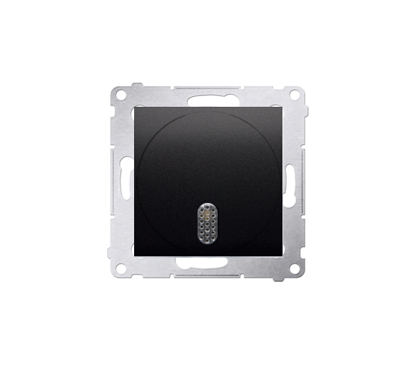 Dzwonek elektroniczny antracyt, metalizowany DDS1.01/48
