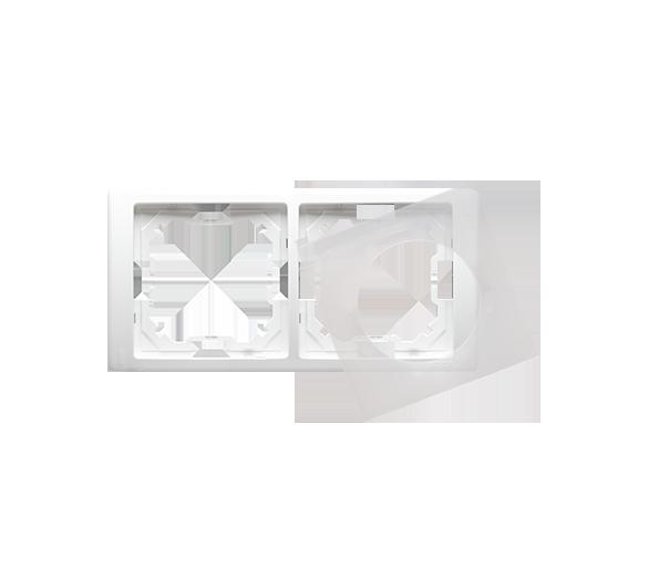 Ramka 2- krotna IP44 biały