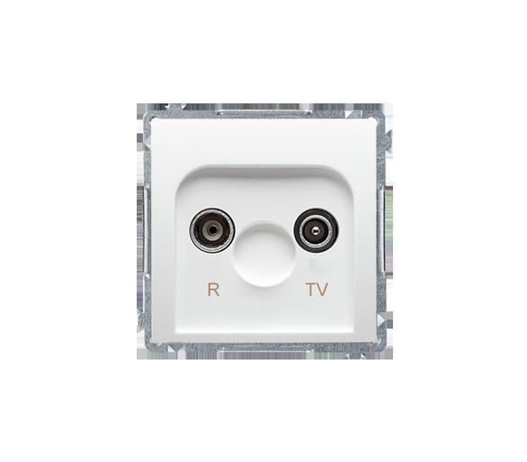 Gniazdo antenowe R-TV przelotowe tłum.:14dB biały BMZAP14/1.01/11