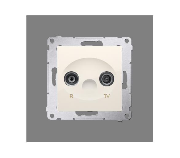 Gniazdo antenowe R-TV przelotowe tłum.:18dB kremowy DAP18.01/41