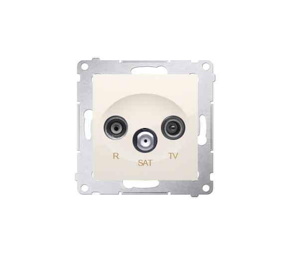Gniazdo antenowe R-TV-SAT końcowe/zakończeniowe tłum.:1dB kremowy DASK.01/41
