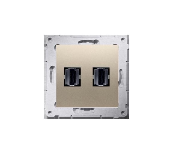 Gniazdo HDMI podwójne złoty mat, metalizowany DGHDMI2.01/44