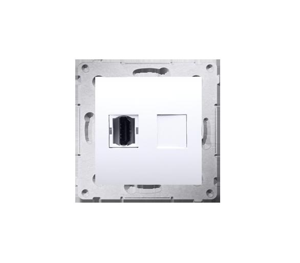 Gniazdo HDMI pojedyncze biały DGHDMI.01/11