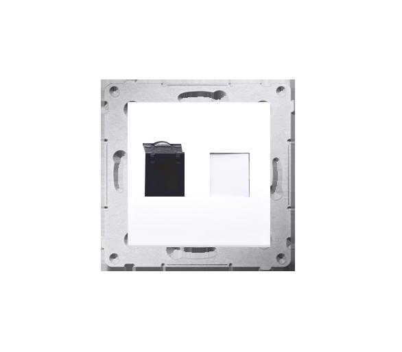 Gniazdo komputerowe pojedyncze RJ45 kategoria 6, z przesłoną przeciwkurzową (moduł) biały D61.01/11