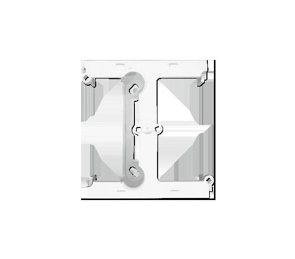 Puszka natynkowa – element rozszerzający puszkę pojedynczą składaną do ramek wielokrotnych biały