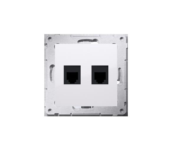 Gniazdo telefoniczne podwójne RJ12 (moduł) biały DT2.01/11