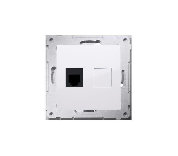 Gniazdo telefoniczne pojedyncze RJ12 (moduł) biały DT1.01/11