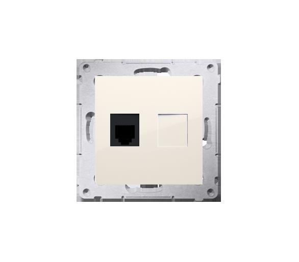 Gniazdo telefoniczne pojedyncze RJ12 (moduł) kremowy DT1.01/41