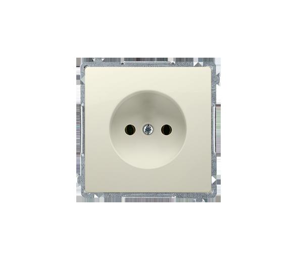 Gniazdo wtyczkowe pojedyncze bez uziemienia beżowy 16A BMG1.01/12