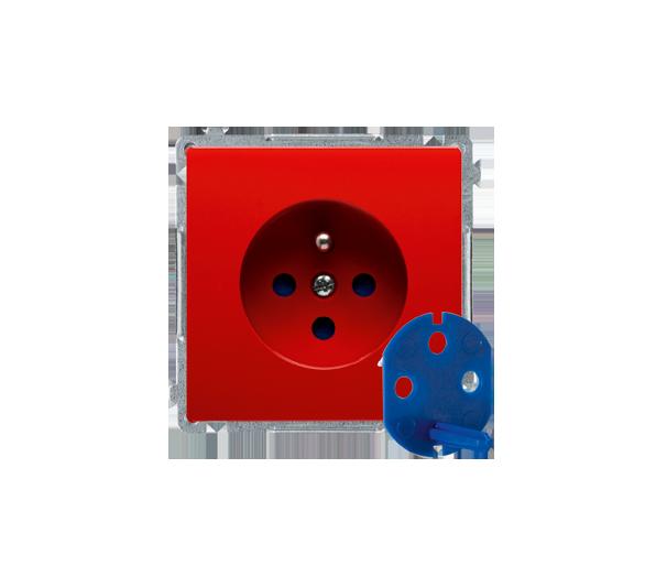 Gniazdo wtyczkowe pojedyncze DATA z kluczem uprawniającym czerwony 16A BMGD1.01/22