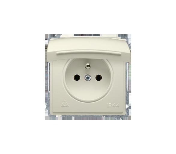 Gniazdo wtyczkowe pojedyncze w wersji IP44 -  klapka w kolorze pokrywy beżowy 16A BMGZ1B.01/12