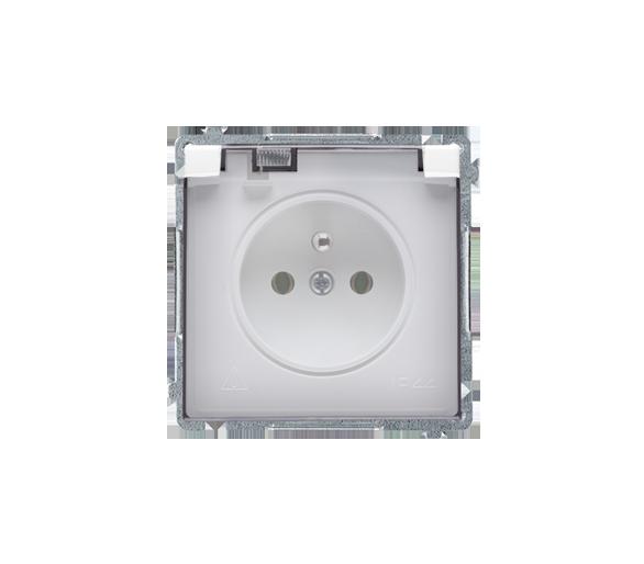 Gniazdo wtyczkowe pojedyncze w wersji IP44 -  klapka w kolorze transparentnym biały 16A BMGZ1B.01/11A