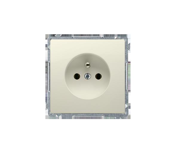 Gniazdo wtyczkowe pojedyncze z uziemieniem z przesłonami torów prądowych beżowy 16A BMGZ1Z.01/12