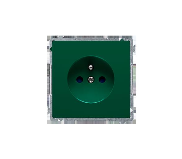 Gniazdo wtyczkowe pojedyncze z uziemieniem z przesłonami torów prądowych zielony 16A BMGZ1Z.01/33