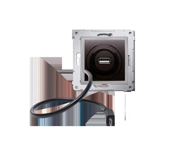 Ładowarka USB i micro-USB WYCOFANY Z OFERTY - Dostępny do wyczerpania zapasów magazynowych antracyt, metalizowany D75405.01/48