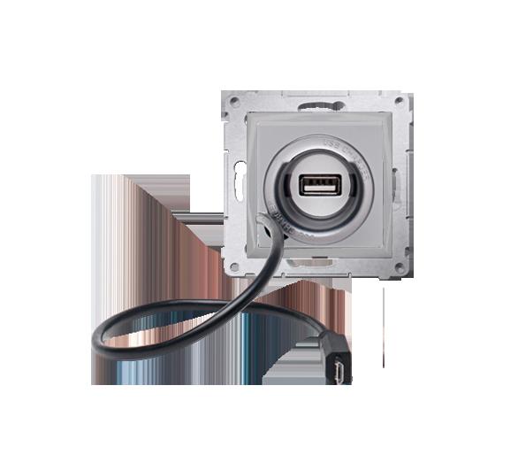 Ładowarka USB i micro-USB WYCOFANY Z OFERTY - Dostępny do wyczerpania zapasów magazynowych srebrny mat, metalizowany D75405.01/4
