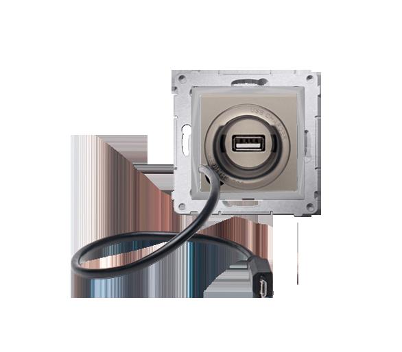 Ładowarka USB i micro-USB WYCOFANY Z OFERTY - Dostępny do wyczerpania zapasów magazynowych złoty mat, metalizowany D75405.01/44