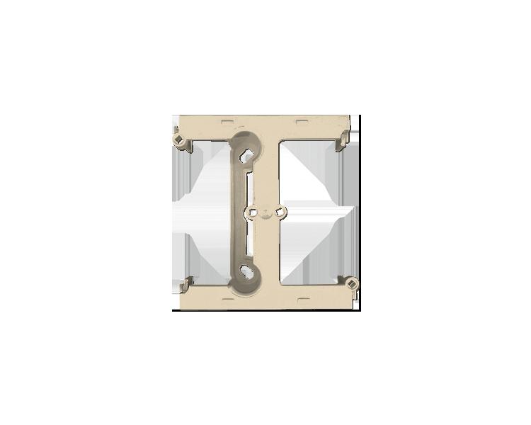 Puszka natynkowa – element rozszerzający puszkę pojedynczą składaną do ramek wielokrotnych beżowy PSH/12