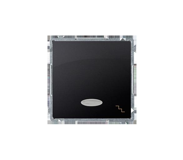 Łącznik schodowy z podświetleniem LED nie wymienialny kolor: niebieski (moduł) 10AX 250V, szybkozłącza, grafit mat, metalizowany
