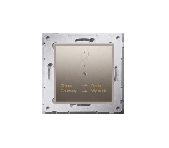 Ochronnik przeciwprzepięciowy złoty mat, metalizowany D75420.01/44