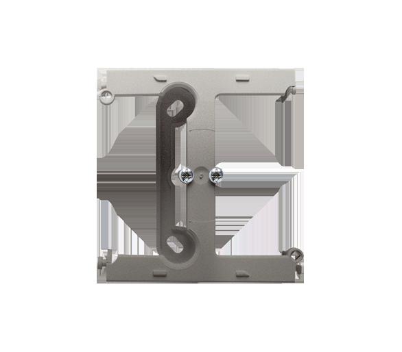 Puszka natynkowa – element rozszerzający puszkę pojedynczą składaną do ramek wielokrotnych satynowy, metalizowany