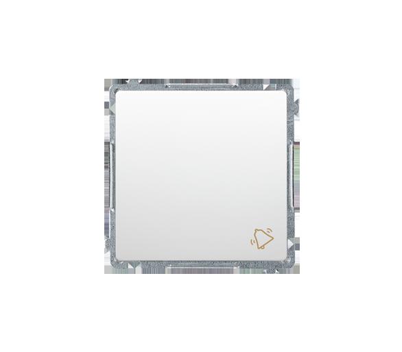 """Przycisk """"dzwonek"""" (moduł) 16AX 250V, zaciski śrubowe, biały BMD1A.01/11"""