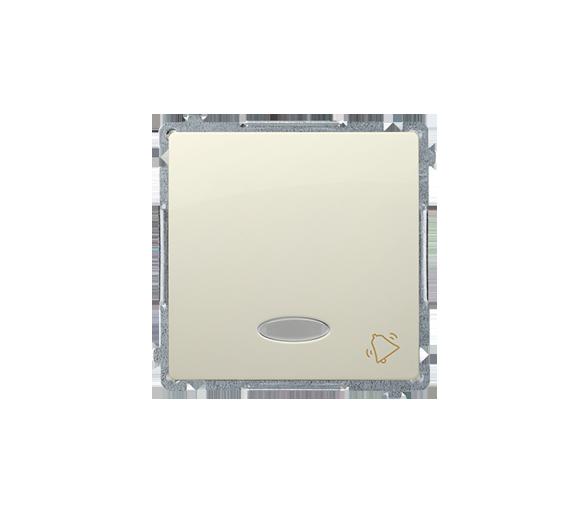 """Przycisk """"dzwonek"""" z podświetleniem LED nie wymienialny kolor: niebieski (moduł) 10AX 250V, szybkozłącza, beżowy BMD1L.01/12"""