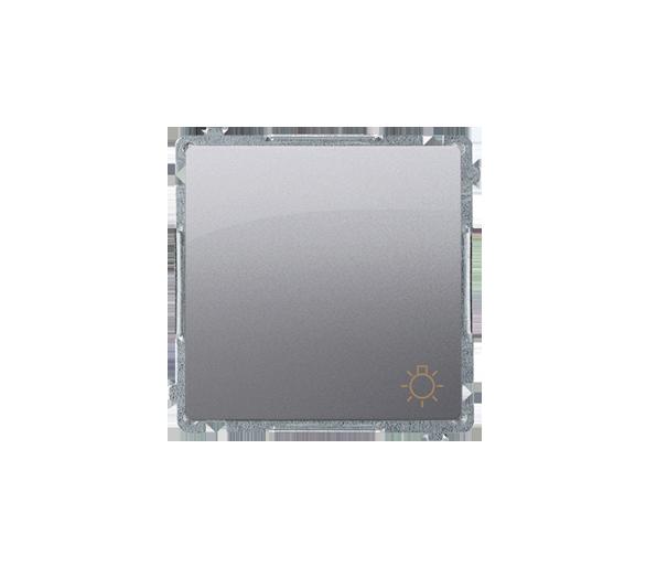 """Przycisk """"światło"""" (moduł) 10AX 250V, szybkozłącza, inox, metalizowany BMS1.01/21"""